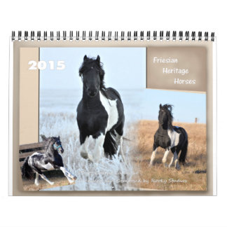 Friesian Heritage Horse standard size Calendars