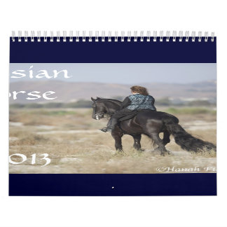 Friesian Horse Calendar 2013