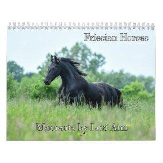 Friesian Horse Calendar by Moments By Lori Ann