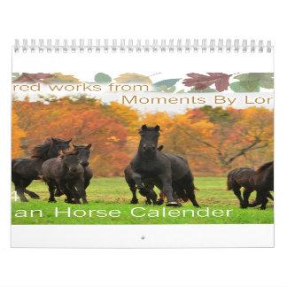 Friesian Horse Calendar Standard Size