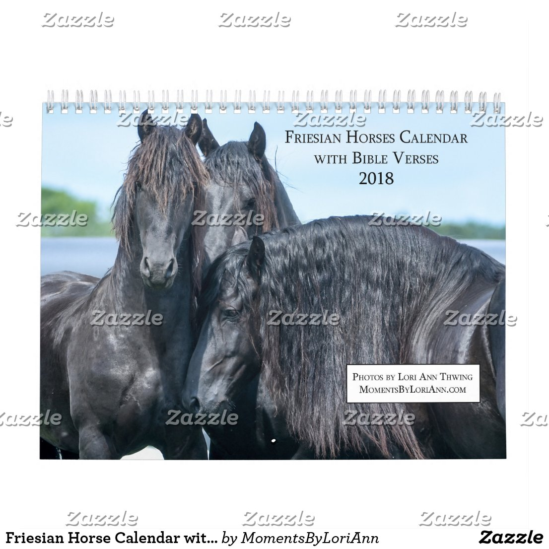 Friesian Horse Calendar with Bible Verses