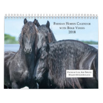 Friesian Horse Calendar with Bible Verses