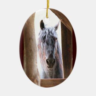 Friesian Horse Ceramic Ornament
