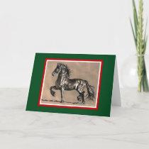 Friesian Horse Christmas Card