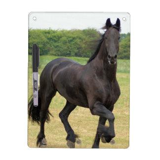 Friesian Horse Dry Erase Board