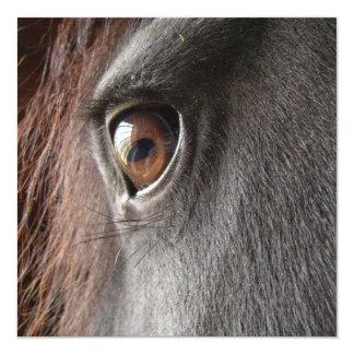 Friesian Horse Eye Invitation