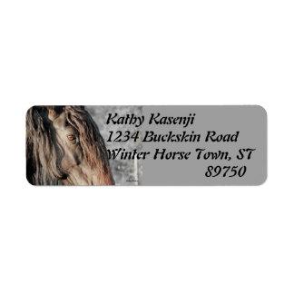 Friesian Horse Eye Label
