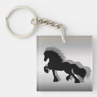 Friesian Horse/frieze horse Double-Sided Square Acrylic Keychain