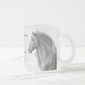 Friesian Horse Frosted Glass Mug