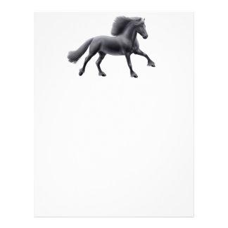 Friesian Horse Full Gallop Letterhead