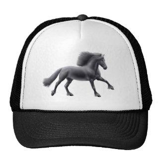 Friesian Horse Galloping Mesh Hat