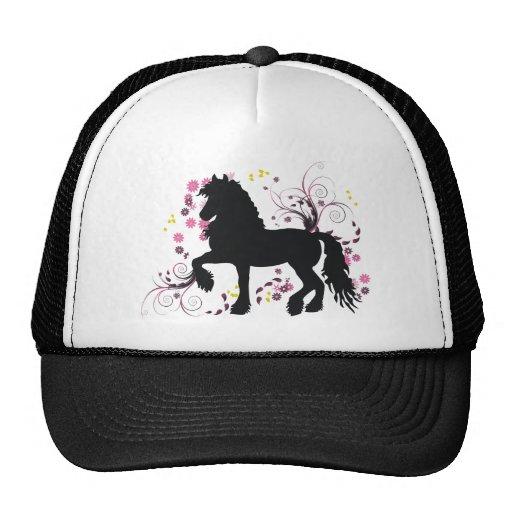 Friesian Horse Mesh Hats