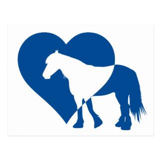 Friesian Horse Heart Postcard