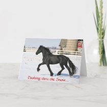 Friesian Horse Holiday Card