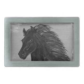 Friesian Horse in the Surf Belt Buckle