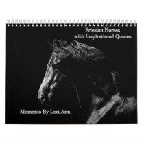 Friesian Horse Inspirational Calendar