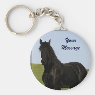 Friesian Horse Keychain 5