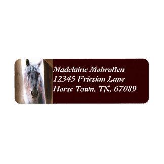 Friesian Horse Label