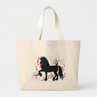 Friesian Horse Large Tote Bag