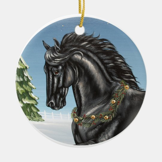 Friesian Horse Ornament