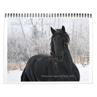 Friesian Horse Photo standard size Calendar