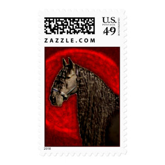 Friesian Horse Postage