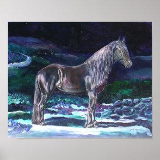 Friesian Horse Poster
