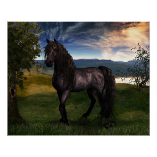 Friesian Horse Poster large