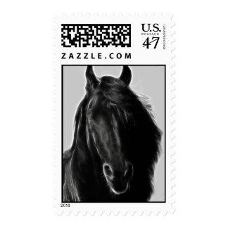 Friesian Horse profile Postage