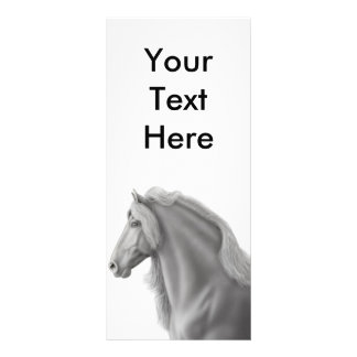Friesian Horse Rack Card