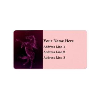 Friesian Horse Rearing Address Label