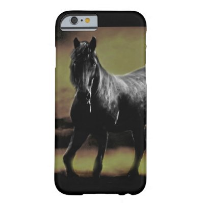 Friesian Horse silhouette Barely There iPhone 6 Case