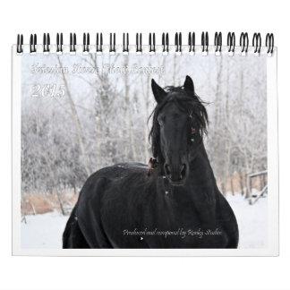 Friesian Horse small photo Wall Calendar