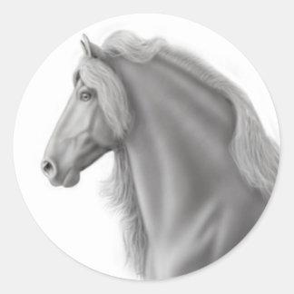 Friesian Horse Sticker