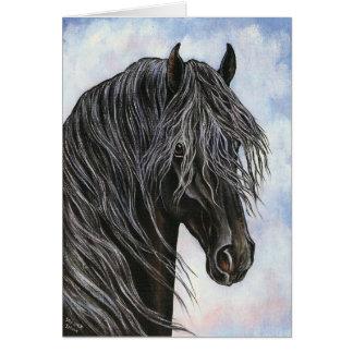 Friesian Horse Study Card