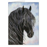 Friesian Horse Study Greeting Card