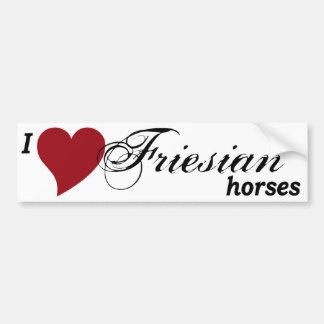 Friesian horses bumper sticker