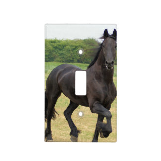 Friesian Horses Light Switch Cover