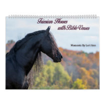 Friesian Horses with Bible Verses 2021 Calendar