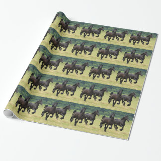 Friesian Horses Wrapping Paper
