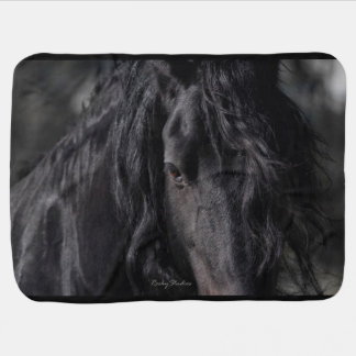 Friesian Image Baby Blankets