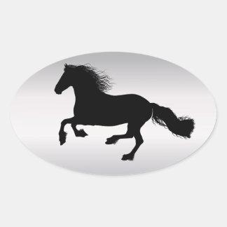 Friesian Oval Sticker