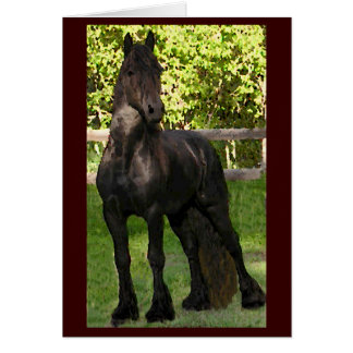 Friesian Painting Notecards Stationery Note Card