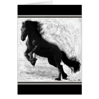 Friesian Power Notecards Stationery Note Card
