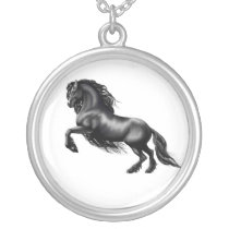 friesian silver plated necklace