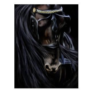 Friesian Spirit - Horse Painting Postcard
