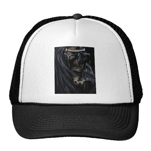 Friesian Spirit - Horse Painting Trucker Hat