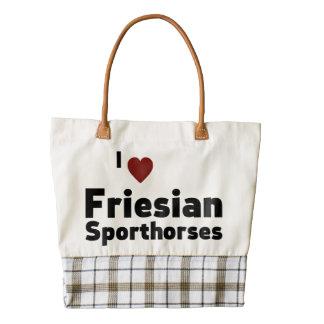 Friesian Sporthorses Zazzle HEART Tote Bag