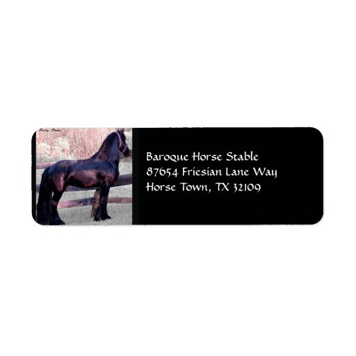 Friesian Stable Shipping Labels