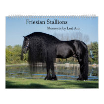 Friesian Stallion Calendar by Moments By Lori Ann